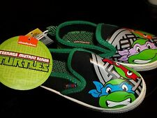 Toddler NWT Shoes TMNT NINJA TURTLES Canvas Slip On Loafers Boat Deck   size 9