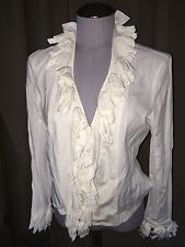anne fontaine paris france white flower applique top 42 M
