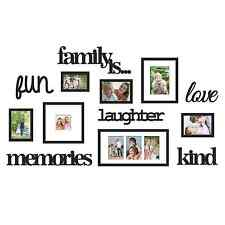 13 Pcs Family Is Word Photo Picture Frame Collage Set Black Wall Art Home Decor