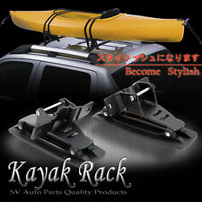 Honda Accord Roof Top Cross Bar Carrier Surf Board Kayak Rack Brackets w/Straps
