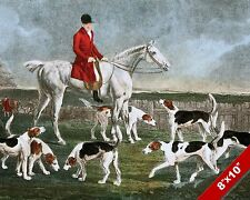 EARL OF DARLINGTON FOX HUNT HORSE FOXHUNTING HUNTING ART PAINTING CANVAS PRINT