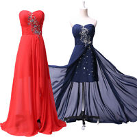 Long Short Prom Quinceanera Graduation Evening Gowns Party Formal High Low Dress