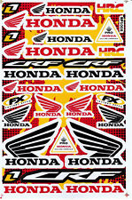 New HONDA Vinyl Decals Black Red Stickers Motorcycle Racing Bike Free Shipping