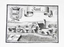 1701 Zandt Zant Denkendorf Kupferstich-Ansicht Wening
