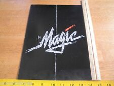 MAGIC movie program credit folder Premiere program 1978 Anthony Hopkins