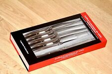 LAGUIOLE FRANCE FRENCH COUNTRY STEAK KNIFE SET NEW 6 PIECES RRP £38 FLY HANDLES