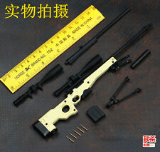 BattleField  1/6 1:6 AWM AWP L96A1 Full Metal Sniper Rifle desert Modern Warfare