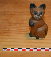 Chat en bois de suar, 10 cm de haut, impeccable