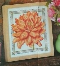 PRETTY AS A PICTURE cross stitch chart from magazine - flower design