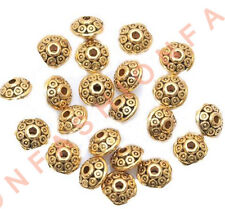 100pcs Rondelle Antique Metal Alloy Bicone Spacer Beads 6mm for Jewelry Making