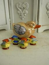 Awesome 5-pc. Lustre Ware Toucan~King Fisher Salt & Pepper~Covered Sugar Bowl
