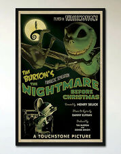 NIGHTMARE BEFORE CHRISTMAS Retro Alternative Movie Poster, Tim Burton Pop Art