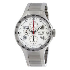 Porsche Design Flat Six Chronograph White Dial Stainless Steel Mens Watch