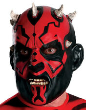 Darth Maul Vinyl 3/4 Mask, Mens Star Wars Costume Accessory