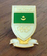 vintage Mauritania National Olympic Committee (NOC) Pin Badge - Undated