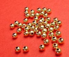 3mm 14K Gold Filled Round Seamless Spacer Beads 25pcs.