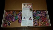 Diceland: Paper Dice Game - SPACE with 50 Dice and Rules