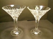 Pair Cut Crystal Martini Glasses Dublin by Godinger Shannon Collection