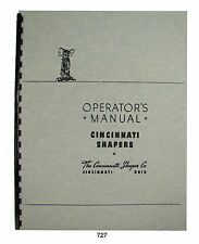 "Cincinnati 16""-36"" Metal Shaper Operating Manual  *727"