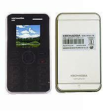 card size phone re. and make calls of iphone with this mini phone and msgs