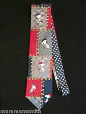 Snoopy Golfing Men's Tie Peanuts Neckties Another day, Another 18 Holes Silk