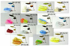 Akuna™ lot of 14 3/8 oz Holographic Willow Colorado Spinnerbait Fishing Lures
