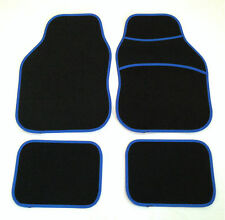 Black & Blue Car Mats For Vw Golf R32 Polo Bora Lupo Passat Beetle