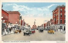 ROCHESTER MN 1915-20 Broadway, Looking South, Old Cars & Stores VINTAGE GEM+++