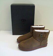 UGG Australia Beni Boots Waterproof Leather Chestnut Mens 12, 45.5 NEW IN BOX
