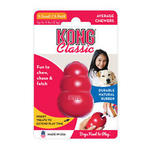 KONG CLASSIC X-SMALL Rubber Chew Toy For Dogs - World's Best Dog Toy (T4)