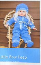 Gorgeous onesie knitting pattern for a 16 inch doll