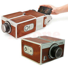 Hot Portable Cardboard DIY Mobile Phone Projector for Android/iOS Samsung iPhone