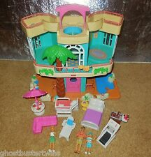 FISHER PRICE SWEET STREETS DOLL HOME OCEAN BEACH HOUSE BUNGLOW BUILDING LOT