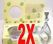 SALE Two Box helix(drop) pendant Natural Pearl Necklace gift set Box-who120_2