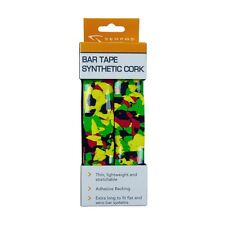Serfas Synthetic Cork Bar Tape-Multi Color-Red/Gn/Yellow-RASTA-Bicycle Wrap-New
