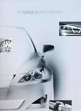 2007 Lexus IS IS250 IS350 Original Factory Car Accessories Brochure