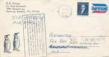 FALKLANDS WAR 1982 USA TO FOX BAY CACHETS APPLIED IN ARGENTINA AND RETURNED