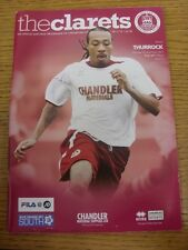 26/12/2011 Chelmsford City v Thurrock  . Any faults with this item have been pre