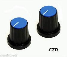 Eden World Tour Bass Amplifier Control Knobs Black/BLU WT800 WT550 WP100 1-PAIR