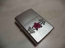 ZIPPO ACCENDINO LIGHTER FLOWERS  RARE NEW + INSERTO JET FLAME NEW