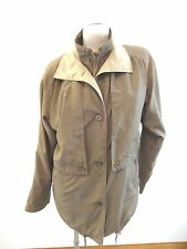 UTEX CYCLONE WOMENS BEIGE POLYESTER RAIN JACKET LIGHT COAT SIZE S