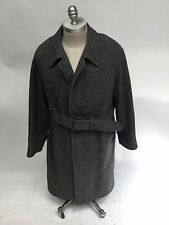 Burberry's Mens Hand Woven Harris Tweed Wool Jacket Trench Coat Vintage Large