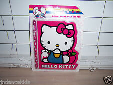 Hello Kitty 40th Anniversary Diecut Diary With Gel Pen New Has 60 Sheets