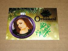 2015 Benchwarmer MARIA KANELLIS #70 Holiday Green Ornament/10 WWE Diva - PLAYBOY