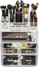 Sorbus Makeup Storage Case Set Large Display  Stackable & Detachable Drawers