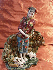 Beautiful Chinese Hand-Painted Porcelain Figurine