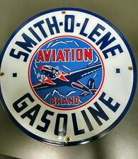 Smith-o-Lene Oil Gas Porcelain Advertising Sign