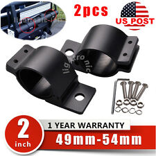 "2x 2"" 49-54mm Bull Bar Roll Cage Tube Mounting Bracket Clamp LED Light Holder"
