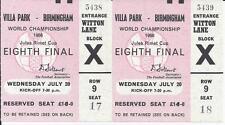 Billete de finales de la Copa Mundial 1966 Alemania occidental V España Excelente Estado