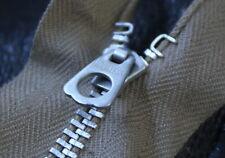 VTG Brass 1930s Hookless Talon Japan zip zipper A2 Crown jacket USAF US Conmar